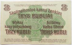 Polska/Niemcy, Poznań 3 ruble 1916 OST, seria W