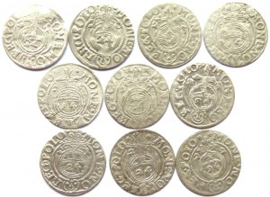 Zygmunt III Waza, lot 10 półtoraków 1620-1627, Bydgoszcz, każdy inny