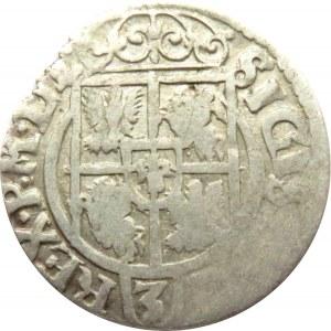 Zygmunt III Waza, półtorak 1620 herb Sas, Bydgoszcz, odwrócone litery