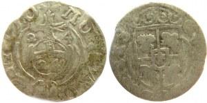 Polska/Szwecja, XVII wiek, 2 półtoraki jednostronnie bite