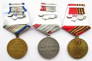 ZSRR, zestaw odznaczeń II wojna światowa, 3 sztuki