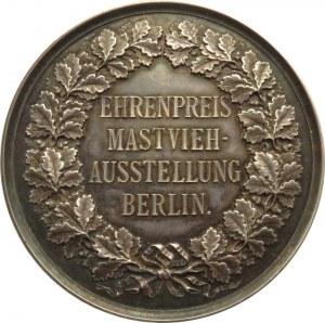 Niemcy, srebrny medal za hodowlę bydła, wystawa Berlin, sygnowany G. Loos