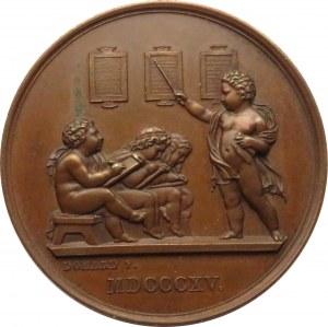 Francja, Medal, społeczeństwo dla edukacji podstawowej 1876, sygnowany