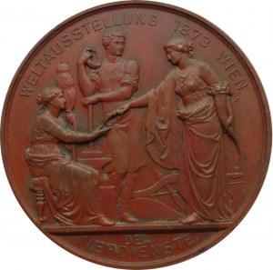 Austria, medal Ogólnoświatowa Wystawa w Wiedniu 1873, Franciszek Józef I -