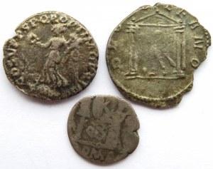 Rzym, Cesarstwo, lot 3 srebrnych monet