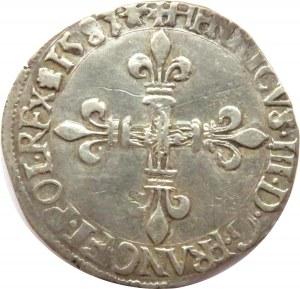 Henryk Walezy, 1/8 ecu 1587