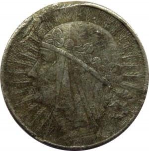 Polska, II RP, 10 złotych 1932, falsyfikat z epoki, szary metal