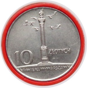 Polska, PRL, 10 złotych 1966, Kolumna Zygmunta, w eksportowym plastikowym etui, UNC