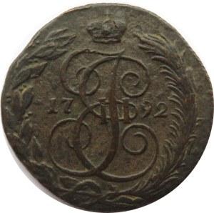 Rosja, Katarzyna II, 5 kopiejek 1792 K.M., Suzun