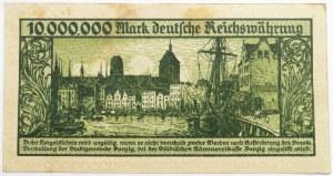 Wolne Miasto Gdańsk, 10 milionów marek 1923, seria A, bardzo ładny