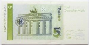 Niemcy, RFN, 5 marek 1991, seria A, UNC