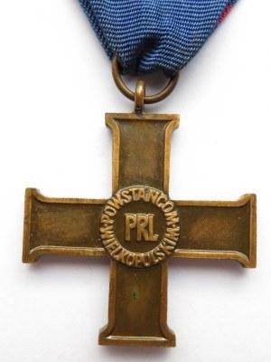 Polska, PRL- Krzyż Powstańcom Wielkopolskim, ze wstążką