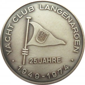 Niemcy, medal 25 lat klubu jachtowego Langenargen 1949-1974