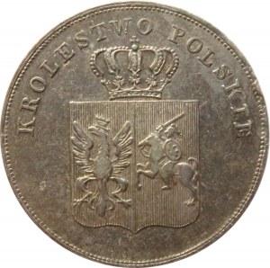 Powstanie Listopadowe, 5 złotych 1831 KG, Warszawa, bardzo ładne, kolorowa patyna