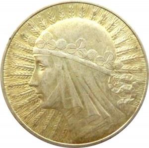 Polska, II RP, Głowa Kobiety, 10 złotych 1933, ładna patyna