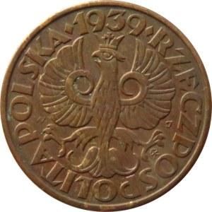 Polska, II RP, 2 grosze 1939, Warszawa