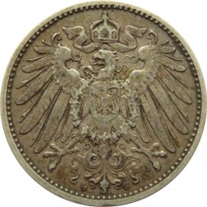 Niemcy, 1 marka 1902 G, Karlsruhe, rzadka