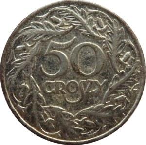Polska, Generalna Gubernia, 50 groszy 1938, niklowane