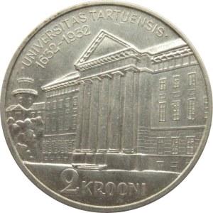 Estonia, 2 korony 1932, 300-lecie Uniwersytetu w Tartu, Tallin