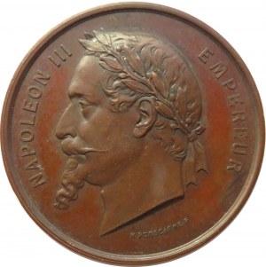 Francja, Napoleon III, medal upamiętniający wystawę międzynarodową w Paryżu w 1867 roku