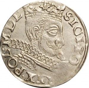 Zygmunt III Waza, trojak 1597, Wschowa, bardzo ładny, nienotowany u Igera!