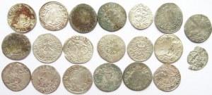Polska, lot srebrnych monet początek XVI wiek, półgrosze (1) - 20 sztuk
