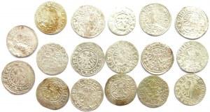 Polska, lot srebrnych monet XV/XVI wiek, półgrosze (5) - 17 sztuk