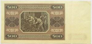 Polska, RP, 500 złotych 1948, seria BH