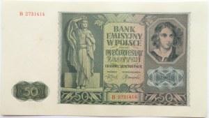 Polska, Generalna Gubernia, 50 złotych 1941, seria B, UNC/UNC-