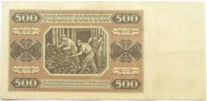 Polska, RP, 500 złotych 1948, seria AR, Warszawa