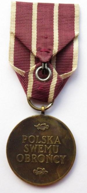 Polska, Rząd na Uchodźtwie, medal Polska Obrońcy Swemu, wstążka
