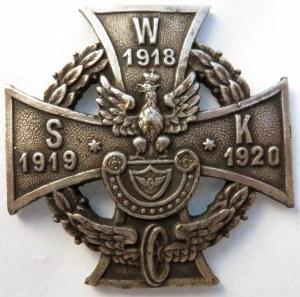 Polska, II RP, Wojskowa Straż Kolejowa 1918-1920, tombak srebrzony