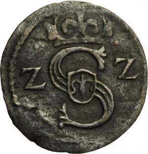 Zygmunt III Waza, denar koronny 1622, Łobżenica, rzadki!! (R4)