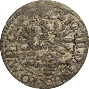Zygmunt III Waza, szeląg 1623, Wilno, odmiana z literą