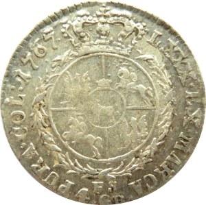 Stanisław A. Poniatowski, 4 grosze srebrne (złotówka) 1767 FS, ładna