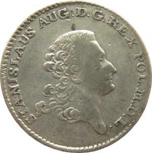Stanisław A. Poniatowski, dwuzłotówka 1766 F.S., rzadszy rocznik