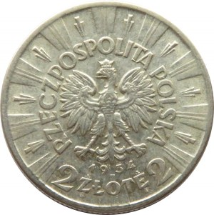 Polska, II RP, Józef Piłsudski, 2 złote 1934, Warszawa
