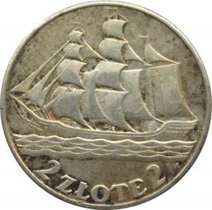 Polska, II RP, Żaglówka, 2 złote 1936, Warszawa