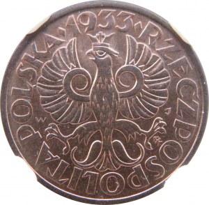 Polska, II RP, 2 grosze 1933, NGC MS65RB, Warszawa