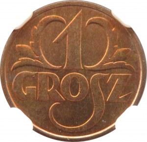 Polska, II RP, grosz 1931, Warszawa, NGC MS66 RD