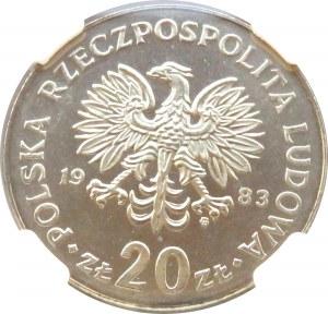 Polska, PRL, Marceli Nowotko, 20 złotych 1983, Warszawa, NGC MS67