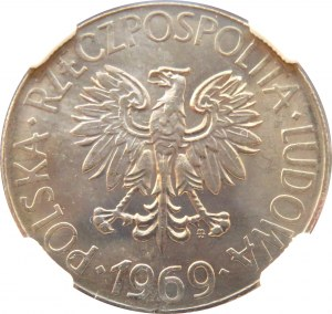 Polska, PRL, T. Kościuszko, 10 złotych 1969, Warszawa, NGC MS67