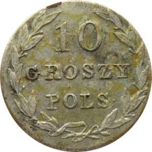 Mikołaj I, 10 groszy 1831 K.G., Warszawa, bardzo ładne