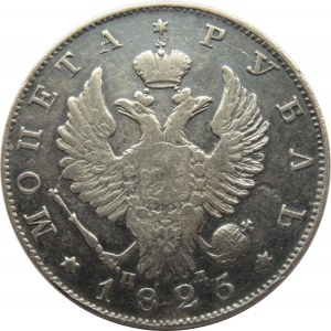 Rosja, Mikołaj I, 1 rubel 1825 PD, Petersburg