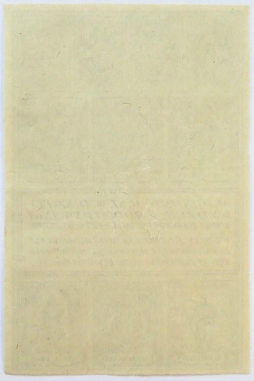 Polska, II RP, Warszawa, karta żywnościowa 1917, UNC
