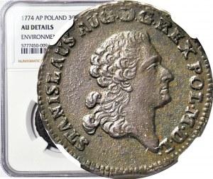 Stanisław A Poniatowski, Trojak 1774 AP, ILUSTROWANY U IGERA