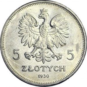 5 złotych 1930, Sztandar, menniczy