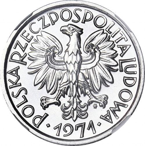 RR-, 2 złote 1971, jagody, MEGA NOTA 67 PROOFLIKE,