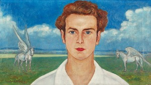 Wlastimil HOFMAN (1881-1970), Portret symboliczny - Konrad Eberhardt, 1953