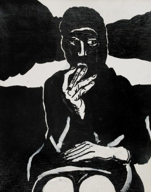 Edward DWURNIK (ur. 1943), Czarna laska, 2008